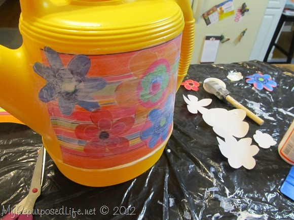 decoupage with wrapping paper
