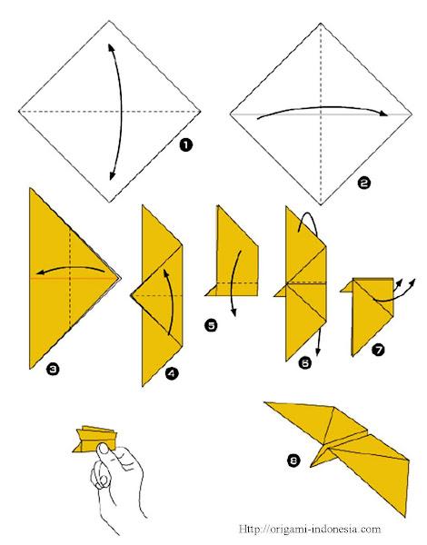 langkah-langkah membuat origami pesawat ini sangat mudah, perhatikan ...