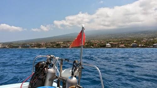 ハワイ島のボート