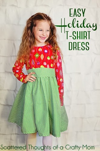 Easy T-Shirt Dress by Scattered Thoughts of a Crafty Mom