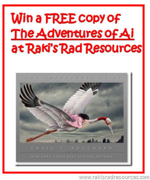 Win a free copy of the new children's novel - The Adventures of Ai from Raki's Rad Resources.