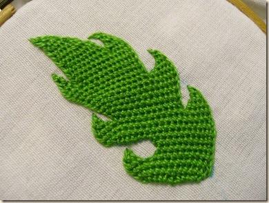 DBH leaf stitched on the bias 2