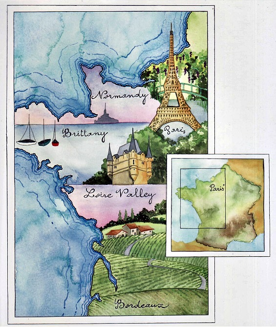 map of france from le road trip
