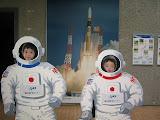 Kai and Eidan, astronauts.