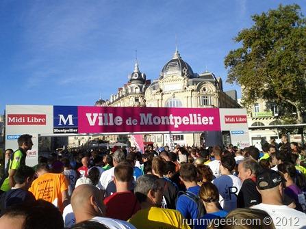 Départ du relais du marathon de Montpellier