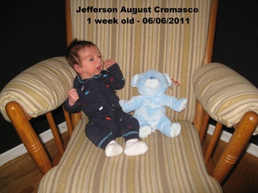Jefferson 1 week old