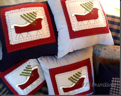 Sleigh pillows