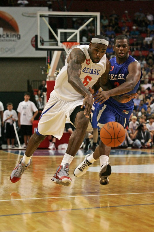 lebron james exhibition 111023 okc 03 LeBron Debuts LeBron 9 Ohio State PE at OKC Charity Game