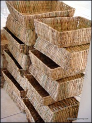 Crafting Baskets from Water Hyacinths