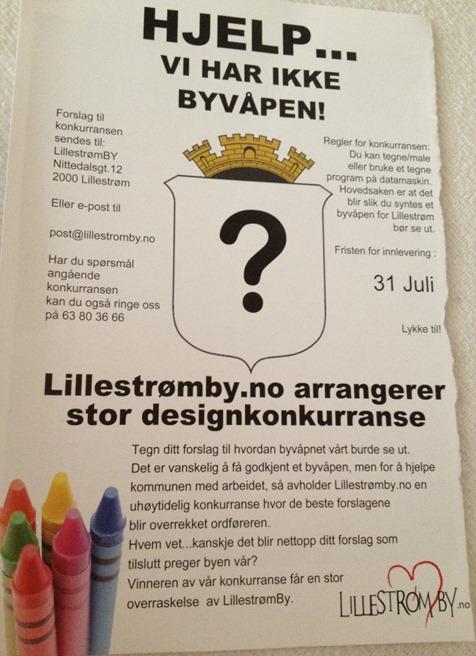 byvåpen lillestrøm designkonkurranse