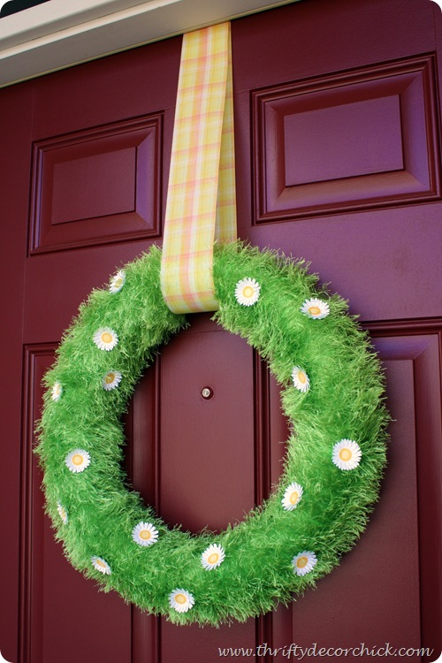 grassy spring wreath