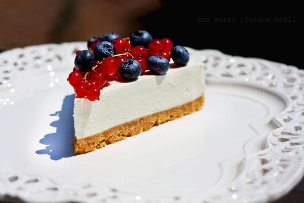 Cheesecake cu iaurt si fructe de padure 4wtr