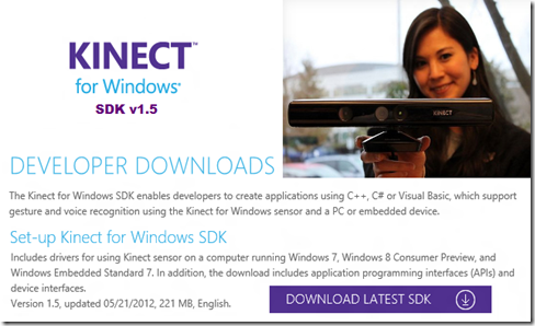 Kinect for Windows SDK v1.5