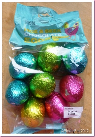 Marks and Spencer Hide and Seek Chocolate Eggs