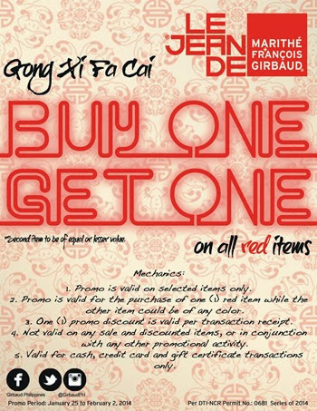 Girbaud Buy 1 Get 1