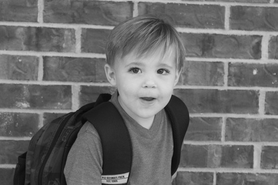 Nash's 1st day of School & Baylor Game 099