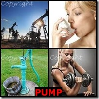 PUMP- 4 Pics 1 Word Answers 3 Letters