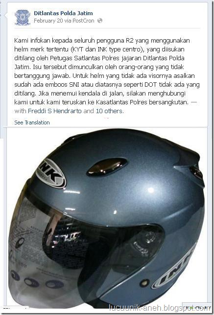 tilang helm centro