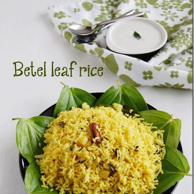 Betel leaf rice / Vetrilai sadham