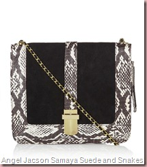Angel Jacson Samaya Suede and Snakeskin Satchel