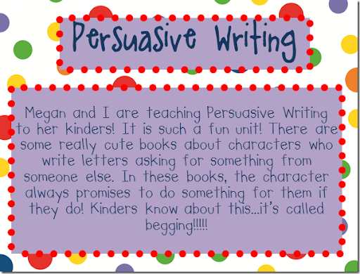teaching how to write persuasive essays In teaching persuasive speaking/writing i have found monroe's motivated sequence very useful and productive it is a classic model that immediately gives a solid structure for students reply.