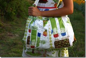 Vestito borsa orto e girasoli-018