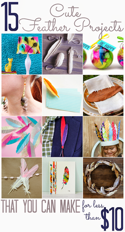15 Cute Feather Projects (that you can make for less than $10)