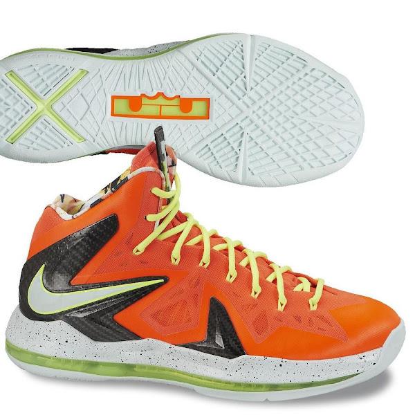 Nike LeBron X PS Elite Total CrimsonFiberglassBlackVolt