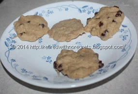 Microwave  vs Convectrion Cookies -microwaved, using white rice flour