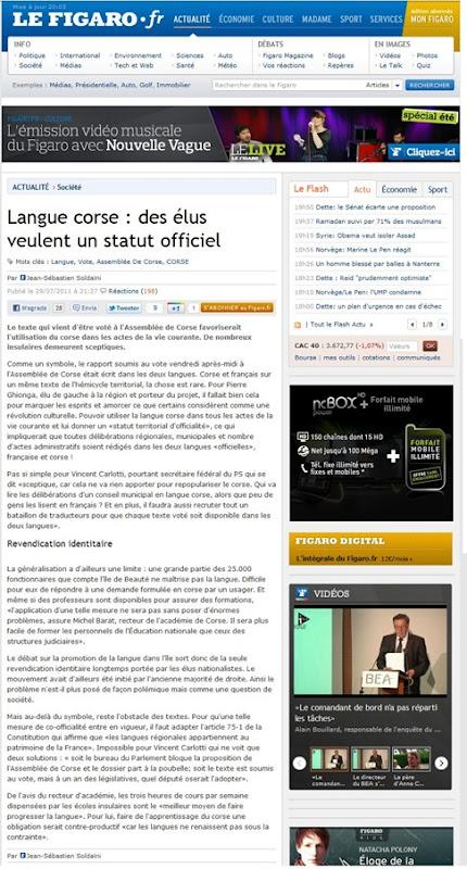 Langue Corse LeFigaro