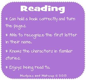 Preschool Reading Skills