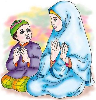 kartun_berdoa-ibu-anak