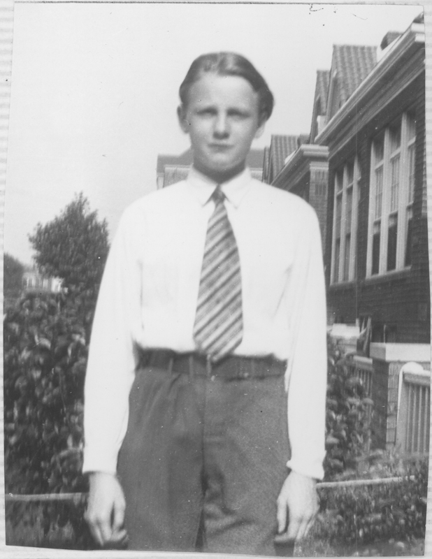 Reed Erickson at age 14. Circa 1931-1932.