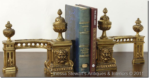 Antique Bronze Bookends