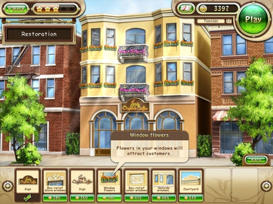 Build a marvelous coffee house and make Jo's dream come true!