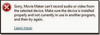 Windows_Movie_Maker_WebCam_error