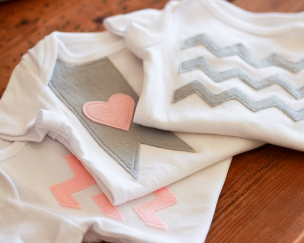 chevron stripe onesies tutorial