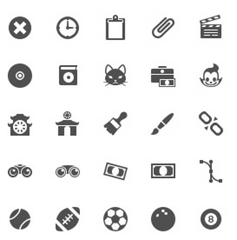 Mobile icons iPhone style