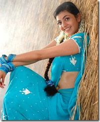 Kajal Agarwal in blue saree