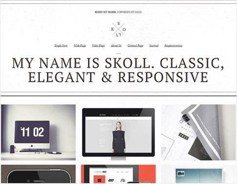 Plantilla elegante para WordPress