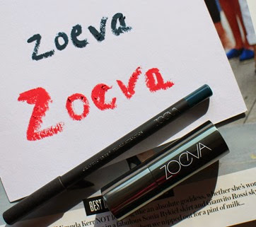 Zoeva-teal-blue-Female-Attraction-Eyeliner,Floral-Crown-Pink-Luxe-Cream-Lipstick-swatches