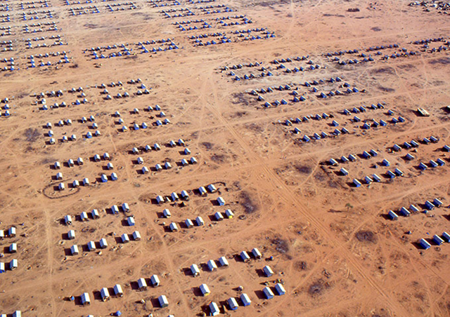 Dadaab refugee camps in Kenya, March 2011. The world's biggest refugee complex, set up at the start of Somalia's civil war in 1991, now also counts Sudanese and Ethiopians among its population of more than 300,000. Photograph: T Bolstad / UNHCR