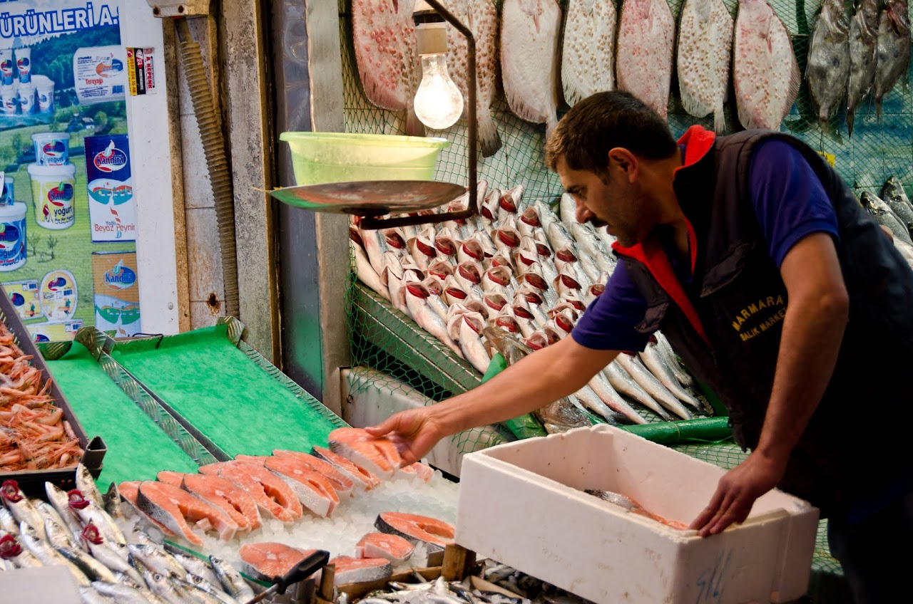 Fisherman at Kadikoy market