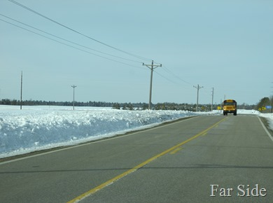 Ditches are full of snow
