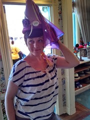 Don't worry, Teresa didn't wear this princess hat all day - just trying it on for fun.