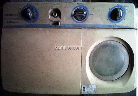 mesin cuci samsung top loading dua tabung -