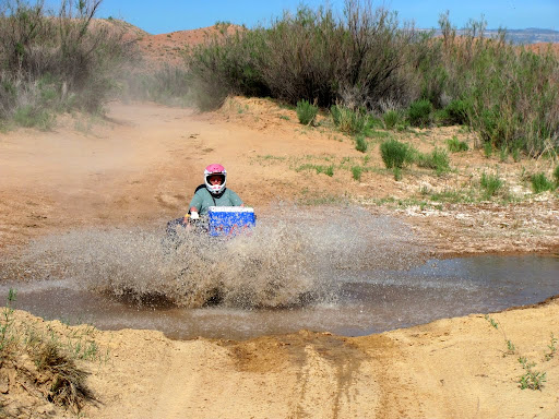 Splashing through North Salt Wash