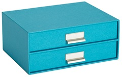 Bright Turquoise paper storage box