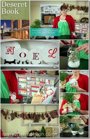 Sassy Style Christmas Decor episode-plus a giveaway from Deseret Book (Zion Mercantile)