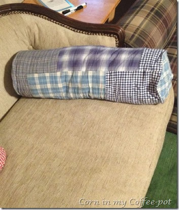 plaid bolster